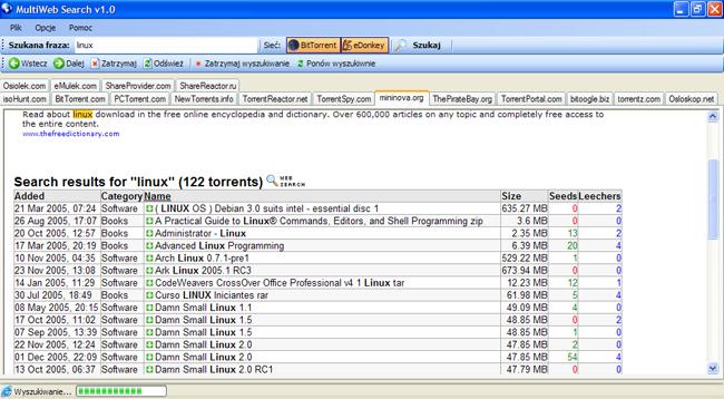 MultiWeb Search - Łatwy dostęp do torrenta
