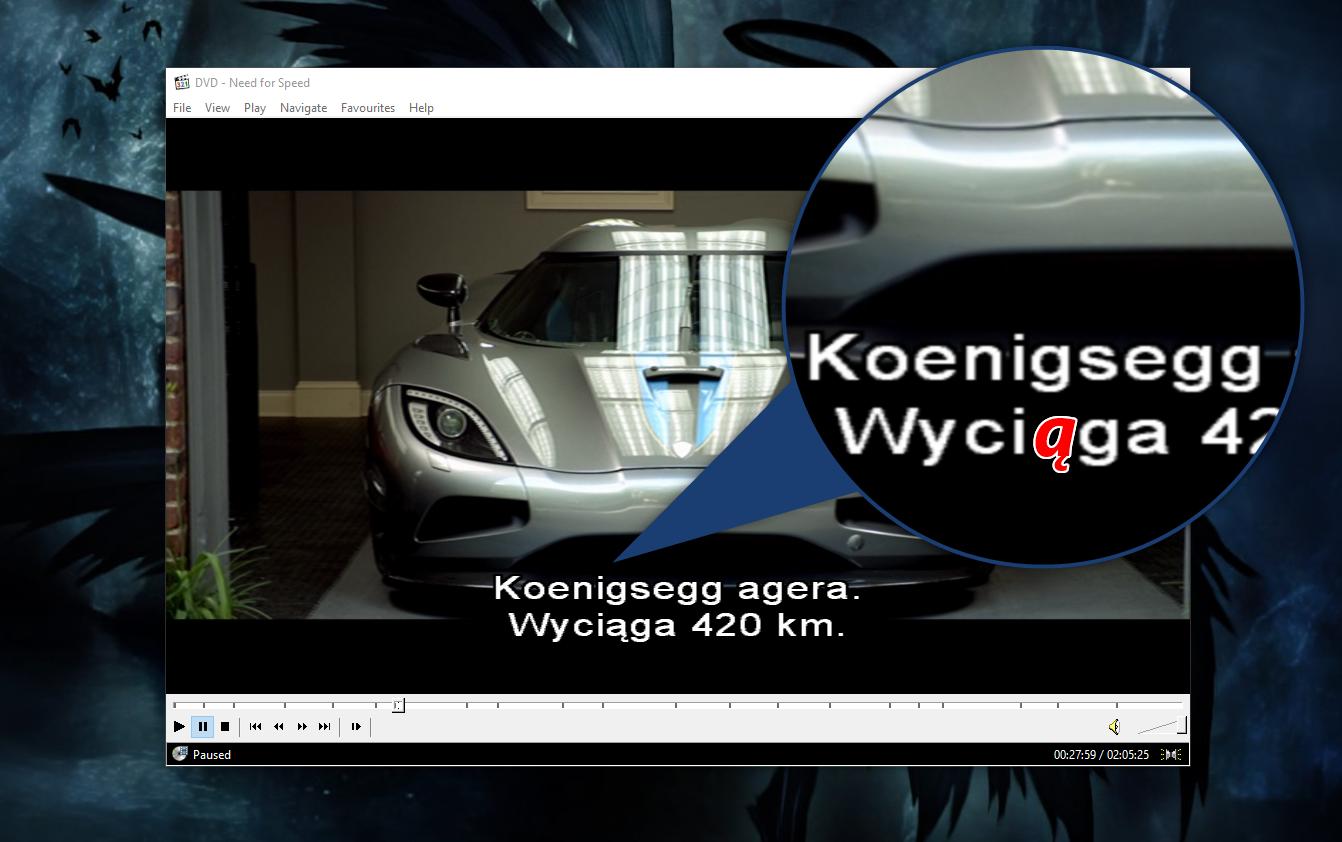 Jak naprawić polskie znaki w napisach filmu