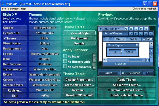 Ciekawe style dla XP