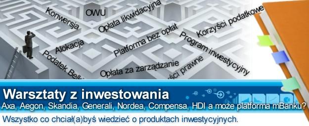 Warsztaty: Prześwietlamy produkty inwestycyjne